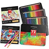 Arteza Coloring Pencils and Book Bundle, Drawing Art Supplies for Artist, Hobby Painters & Beginners