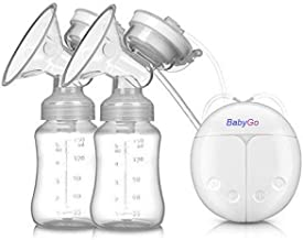 BabyGo Automatic Electric BPA-Free Double Breast Pump with Dual Mode (White).