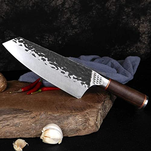 """lowest XT XITUO Kiritsuke Chef Knife 7-inch,Meat outlet online sale online sale Sushi Cutting Cleaver Knife High Carbon Steel Knife Hand Forged Japanese Butcher Kitchen knives for Home Restaurant (7"""" Kiritsuke Knife)… sale"""