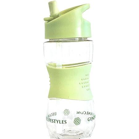 Anti-fuite Sans BPA 480 ml Violet Bouteille deau pour enfants avec paille et poign/ée