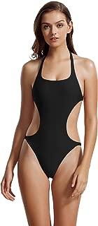 Women's Halter Scoop Neck Cutout One Piece Bathing Suit Swimsuit