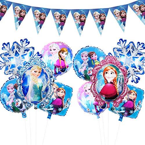アナと雪の女王風船 可愛い人形誕生日バルーン エルサ アナパーティー飾り 女の子 子供 100日 半歳...