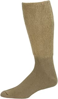 Extra Wide Mens Tan Athletic Crew Socks 1 Pair - Size 8-11