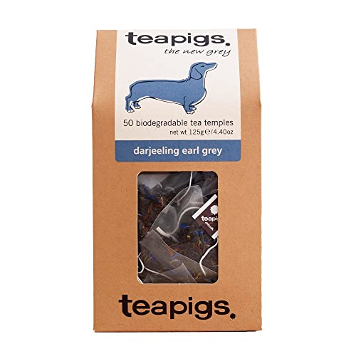 teapigs Darjeeling Earl Grey Tea 125 g (Pack of 1, Total 50 Tea Bags)