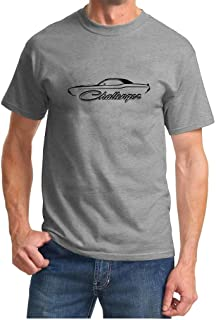 1970-74 Dodge Challenger Classic Outline Design Grey Tshirt