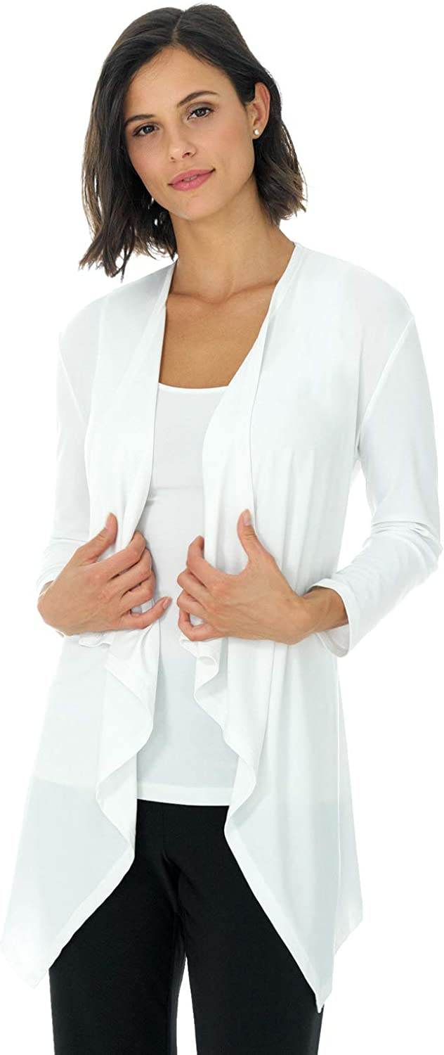 Rekucci Travel in Style Women's Essential Soft Knit Fluid Throw Over Jacket