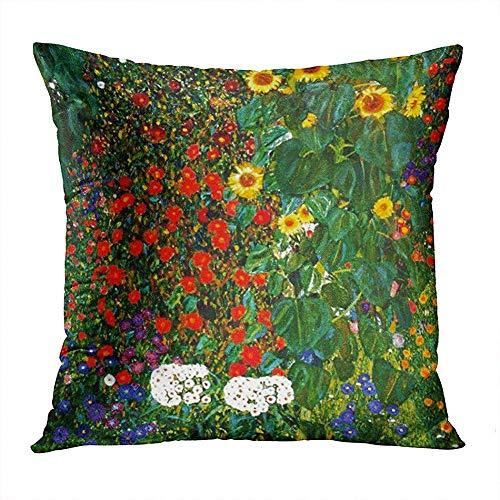 Fancy Farm Garden Sunflowers Hidden Zipper Home Sofa Decor Throw Pillow Cover Cushion Square 50x50cm Design Printed Pillowcase
