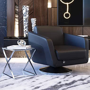 Modern Zafiro Nesting Side Tables - Clear Glass and Stainless Steel Base