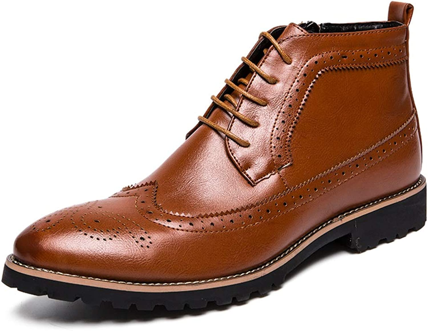 1875156d416 SRY-Fashion shoes Men's Simple Fashion Boots Casual Classic Brogue ...