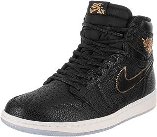 280c1ee75c96 NIKE Air Jordan 1 Retro High OG Men s Basketball Shoes 555088 031 Black  Metallic Gold (