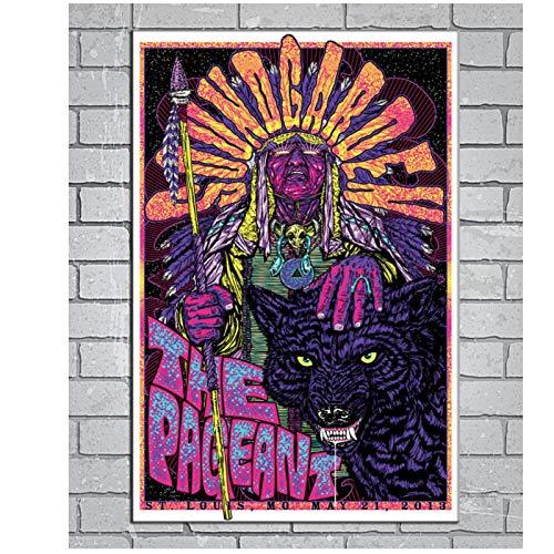 Soundgarden Chris Cornell Rock Music Band Nuevo regalo Art Poster Lienzo Pintura cuadros de arte de pared para la decoración de la sala de estar -50x70cmx1pcs -Sin marco