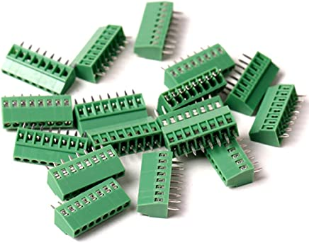 3P tatoko 2.54mm Pitch PCB Mount Screw Terminal Block Connector 150V 8A 22PCS