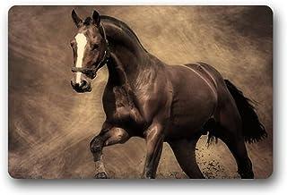 Homie diseño Wild caballo Tejido/exterior/ducha/baño Felpudo lavable antideslizante de goma Kitchen Rugs 23,6x 15,7) para...
