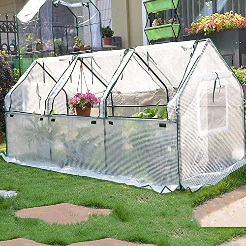 BBZZ Invernaderos para el jardín del jardín, jardín al aire libre de jardinería con caja de plástico,Soporte de tubo de acero Sala de flores para cultivar verduras/flores/hierbas