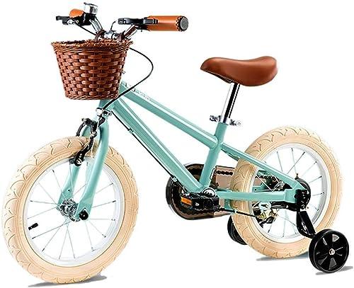 LPYMX Vélo pour Enfants Vélo Enfant de 3 à 6 Ans, vélo Enfant avec Roue d'entraîneHommest et Baket, assemblé à 95%, Bleu vélo