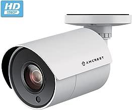 Amcrest Full HD 1080P Bullet Outdoor Security Camera Analog, 2MP 1920x1080p, 98ft Night Vision, Quadbrid (HD-CVI/TVI/AHD/Analog), 2.8mm Lens 103° Viewing Angle, White (AMC2MBC28P-W)