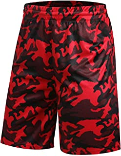 Auyz Mens Breathable Lightweight Basketball Shorts Athletic Gym Running Workout Shorts with Pockets Drawstrings