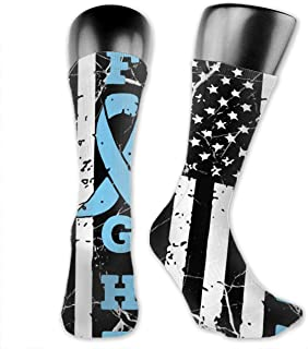 Prostate Cancer Awareness American Flag Sport Compression Stockings For Softball Jogging