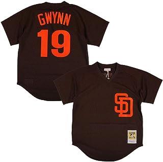 48422359 Tony Gwynn San Diego Padres Brown Authentic Mesh Batting Practice Jersey