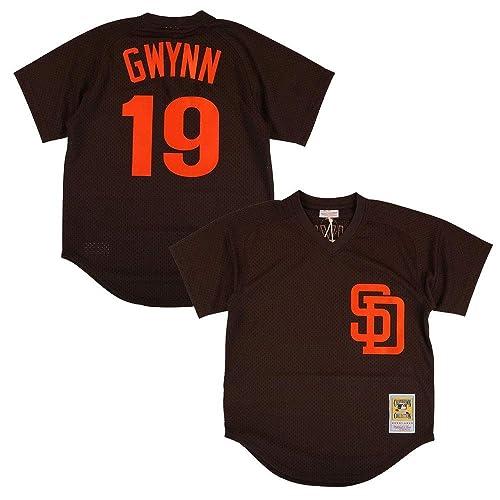 cc040b57 Tony Gwynn San Diego Padres Brown Authentic Mesh Batting Practice Jersey