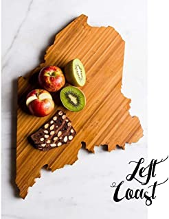 Personalized Maine State Shaped Cutting Board by Left Coast Original