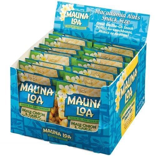 MAUNALOA(マウナロア) MAUNALOA(マウナロア) マカダミアナッツオニオンガーリック味18袋セット (ハワイ おつまみ)