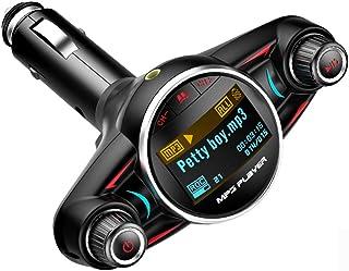 Fashion FM Modulator Handsfree Wireless Bluetooth Car Kit FM Transmitter MP3 Music Player TF USB Music Receiver