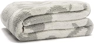 """Sunday Citizen Casablanca Double Sided Snug Throw Blanket, Ultra Soft - Over Sized 52"""" x 75"""" Inch (Snow White & Cloud Grey)"""