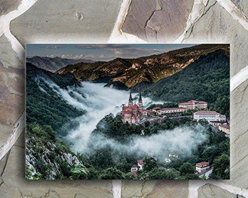 Wayshop | Cuadro Asturias | Material PVC Forex 5 MM | Medidas 50cm x 40cm | Fácil colocación | Diseño Elegante | Impresión Digital Multicolor (1 Unidad)