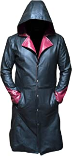 Devil May Cry Dante Jacket Cosplay Costume DMC 5 Hoodie Leather Over Coat Long Jacket