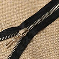 LRrui-ユニークなジッパー 2/5ピース80cm 8#樹脂ジッパー、縫製用ジャケットコートジッパージッパーDIY衣服修理、オープンエンドオートロックジップ、 ミシンアクセサリー (Color : LightGold, Length : 80cmX5pcs)