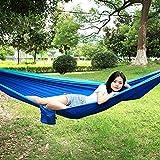 Hamaca Que acampa de la Hamaca al Aire Libre Respirable, con la Hamaca Individual(with Tree with Sky Blue and Blue)