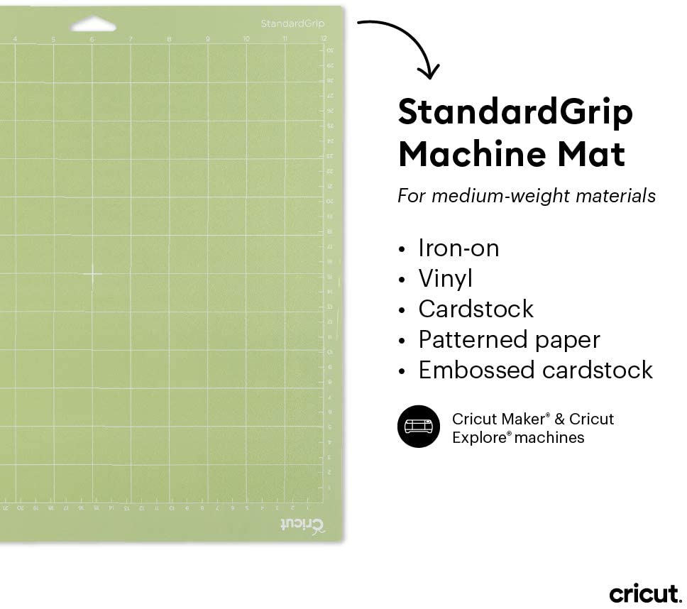 Cricut StandardGrip Adhesive Cutting Mat for Crafting 8.5 by 12-Inch