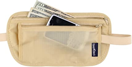 Zegur (Tm) Light Weight Money Belt - Comfortable Travel Waist Stash – Security Wallet Gear Undercover Waterproof with Two Zippered Compartments for Carrying Money, Passport Credit Cards and I.d , (Beige)