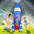 ROYPOUTA Inflatable Sprinkler for Kids Yard Outdoor Water Play, 6ft Giant Rocket Sprinkler Kids Water Toys for The Outside Backyard from New Time