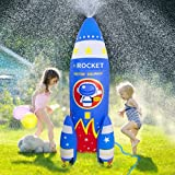 ROYPOUTA Inflatable Sprinkler for Kids Yard Outdoor Water Play, 6ft Giant Rocket Sprinkler Kids Water Toys for The Outside Backyard