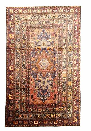 Nain Trading Belutsch Antik 367x230 Orientteppich Teppich Rot Handgeknüpft Afghanistan