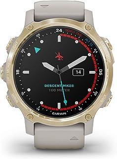 Garmin Descent MK2S, lichtgoud, 010-02403-01, 43 mm siliconen armband