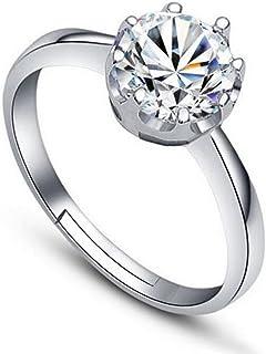 Karatcart Platinum Plated Austrian Crystal Adjustable Ring for Women