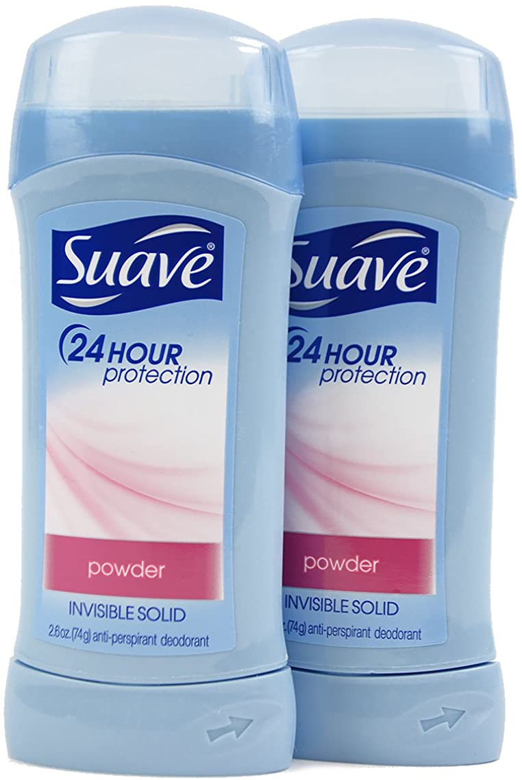征服罪町スアーブ(Suave) 固形デオドラント スティック パウダーの香り 74g×2個[並行輸入品]