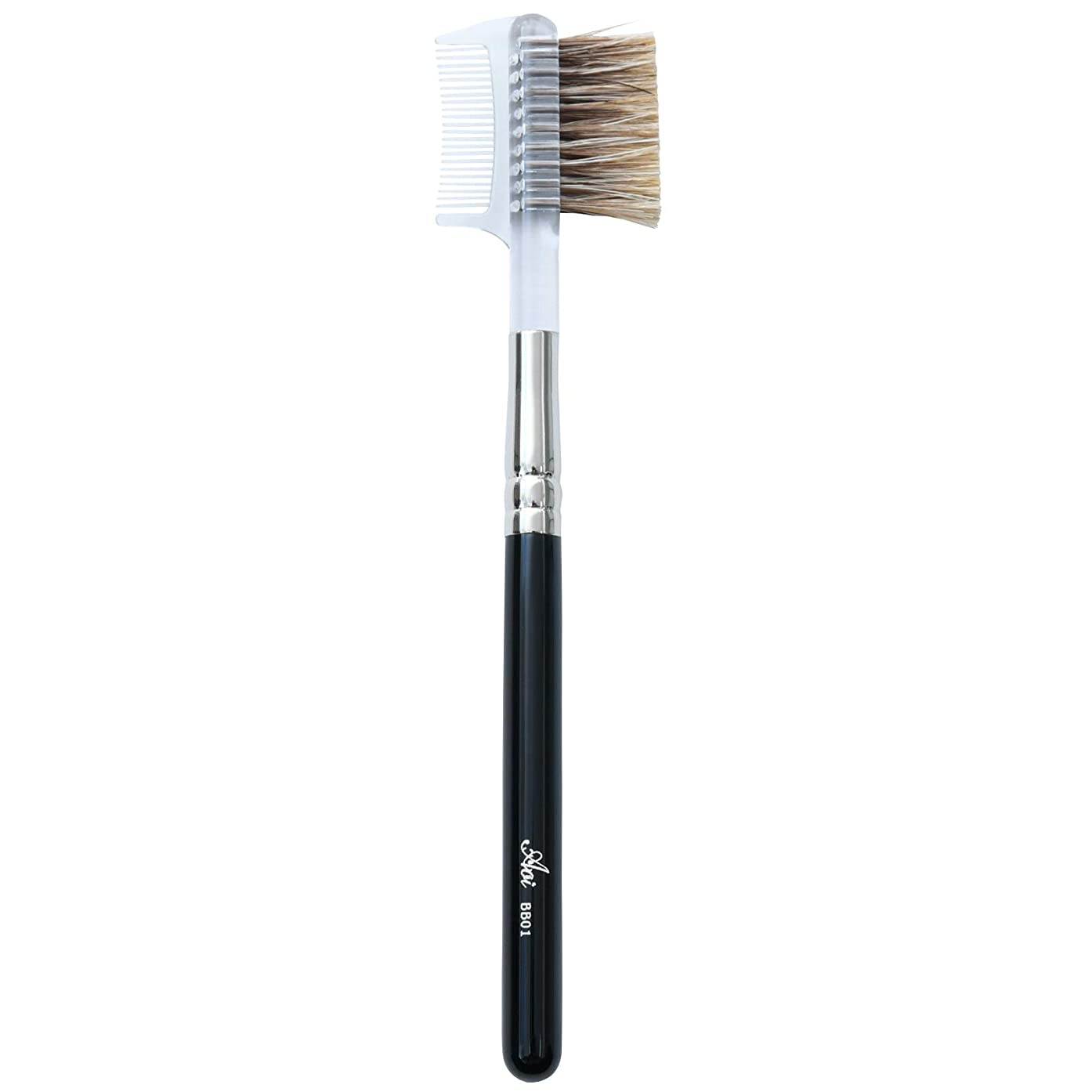 自発的寛解ドア一休園 Aoi 熊野 化粧筆 ブラシ&コーム 12.8×2.8×0.7cm