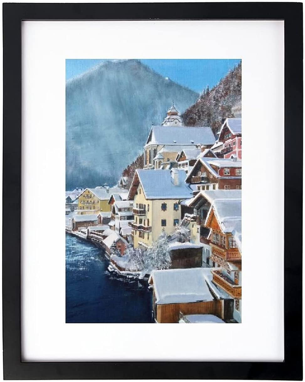 Wall Art Print El Paso Mall Winter Landscape The Painting of Rare Alps Oil