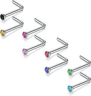 JFORYOU 鼻环 5-33 件 3 种型 316L 钢鼻环鼻环螺钉后鼻针