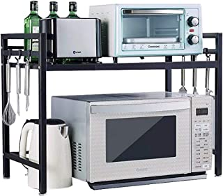 FSGD Horno de microondas Rack retráctil Tablero de la Mesa de Acero Inoxidable Horno Estante de la Cocina de Doble Capa E...