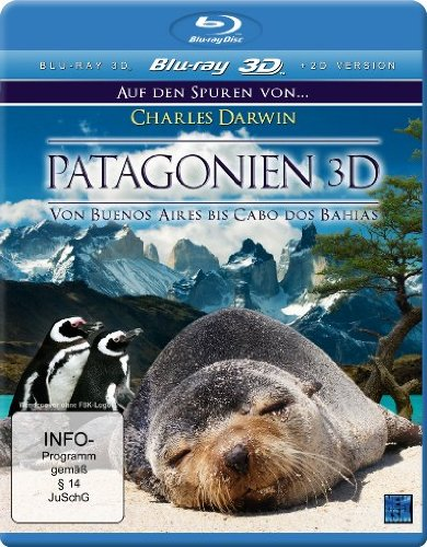 Patagonien 3D - Auf den Spuren von Charles Darwin: Von Buenos Aires bis Cabo dos Bahias (inkl. 2D Version) [3D Blu-ray]