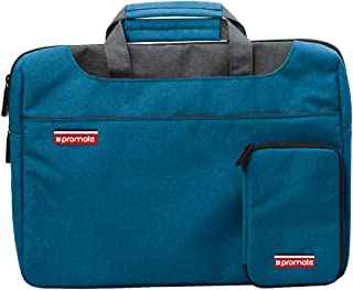 Promate Laptop Bag, Slim Water-Resistant 11.6 Inch Laptop Tote Shoulder Handbag with Adjustable Strap and Detachable Mini Case for Laptops, iPad, Documents, Business, Desire-S Blue