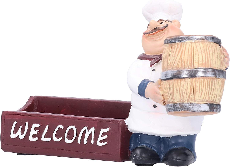 Over item handling Decorative Toothpick Holder Chef 2021 new Kitchen Figu - Resin Decor