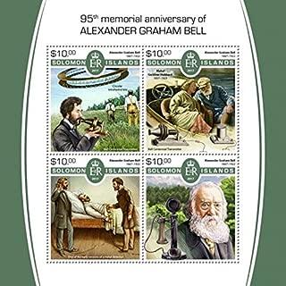 Solomon Islands - 2017 Alexander Graham Bell - 4 Stamp Sheet SLM17522a