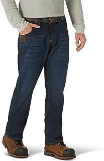 Wrangler Riggs Workwear - Jeans Ajustados con Cinco Bolsillos, para Hombre, Dark Stone, 35W x 30L
