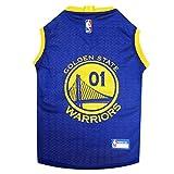 NBA GOLDEN STATE WARRIORS DOG Jersey, Small - Tank Top Basketball Pet Jersey